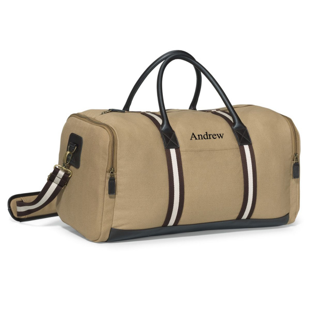 Personalized Heavy Canvas Deluxe Duffel Bag