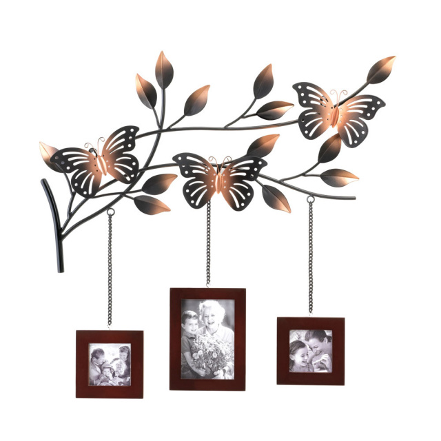 Butterflies on Branches Triple Picture Frames Decor