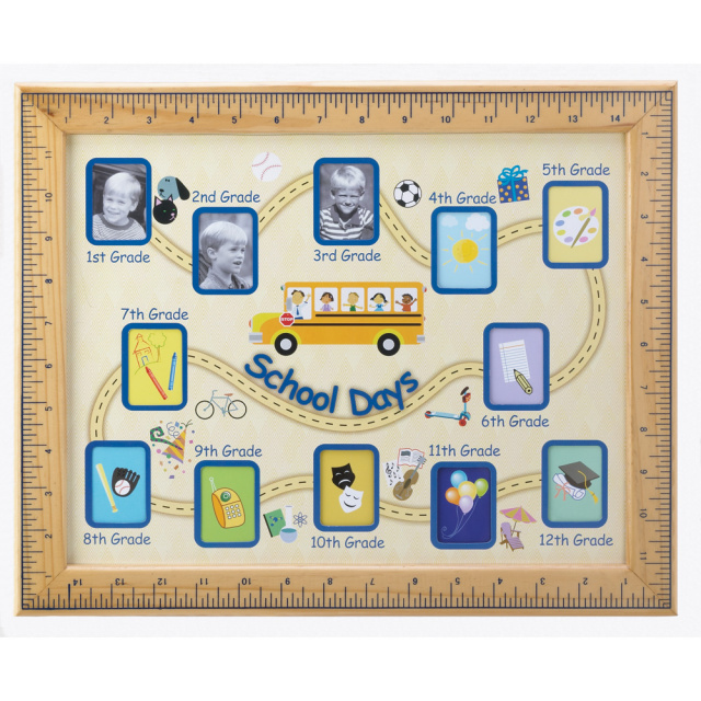 School Days Grade 1 to 12 Photo Frame