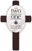 Personalized Two Shall Become One Wedding Anniversary Cross