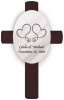 Personalized Two Hearts Wedding Anniversary Cross