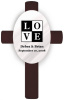 Personalized Classic LOVE Wedding Anniversary Cross