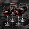 Personalized Connoisseur Red Wine Glasses Set of 4