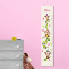 Personalized Girl Jungle Monkeys Height Growth Chart