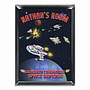 Personalized Space Ship Room Door Sign