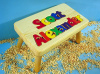 Classic Natural Wooden Two Name Puzzle Stool