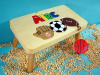 Classic Natural Wooden Sports Name Puzzle Step Stool