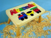 Classic Natural Wooden Train Name Puzzle Stool