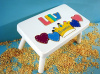 Classic White Princess Name Puzzle Stool