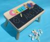 Classic Doodle Chalkboard Name Puzzle Stool