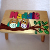 Classic Owl Name Puzzle Stool