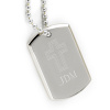 Personalized Small Inspirational Dog Tag Engraved Cross