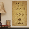 Personalized Live Laugh Love Every Moment Canvas Print