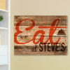 Personalized Wood Look Restaurant Sign